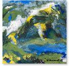 Gelbe Bergspitzen