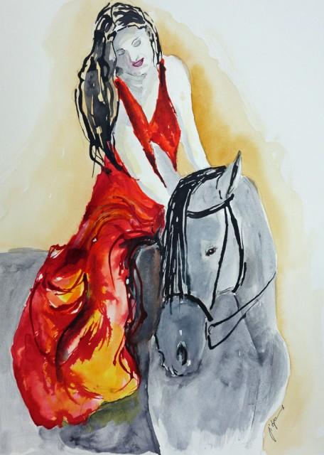 Mädchen mit Pferd 2